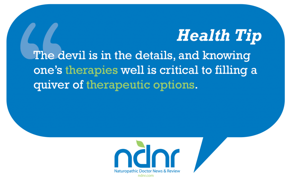 The devil is in the details and knowing ones therapies well is critical to filling a quiver of therapeutic options
