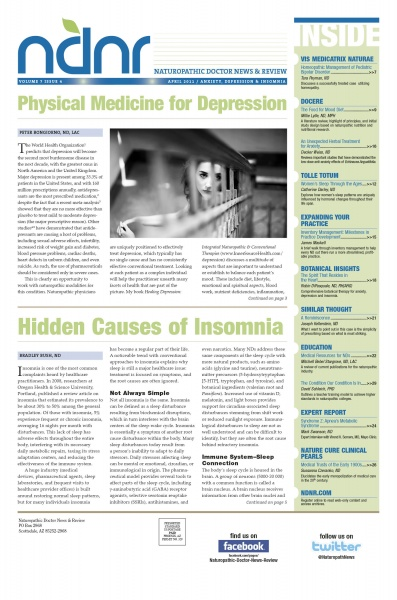 April 2011 NDNR | ANXIETY / DEPRESSION / INSOMNIA