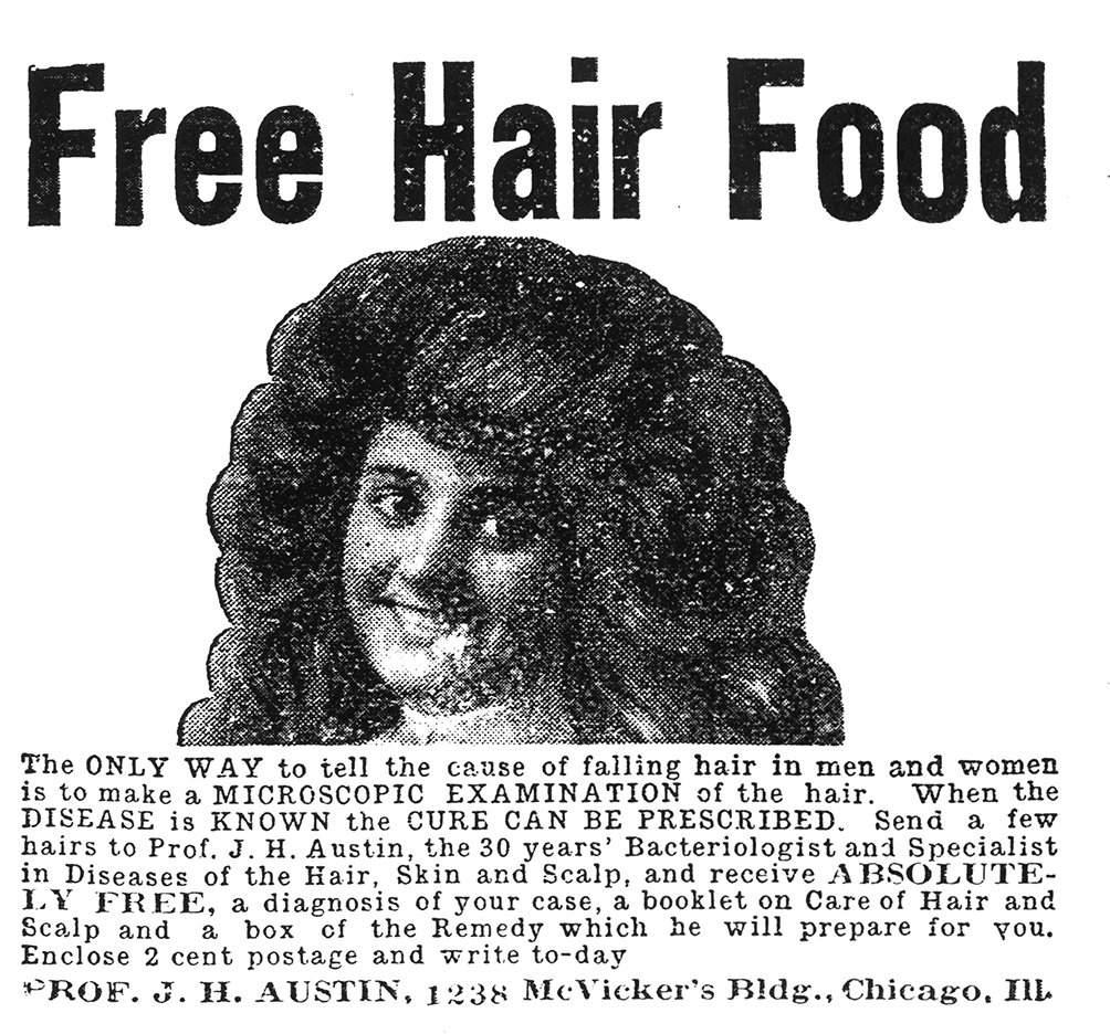 Figure 2. hair food_ad for exam; 1907