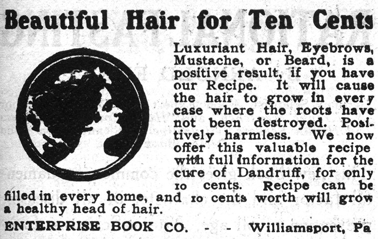 Figure 3. Ad for Hair Health Recipe; 1915