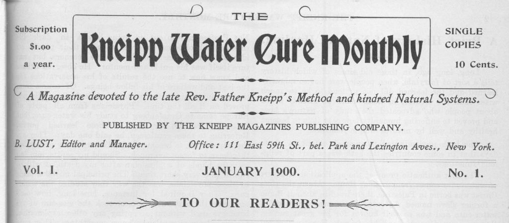 Hydropathic Medical Adviser, 1900