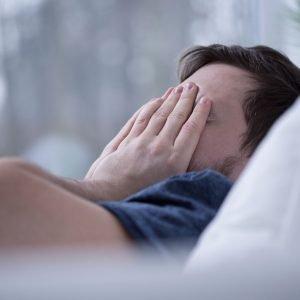 42093436 - man having some sleeping disorders like insomnia
