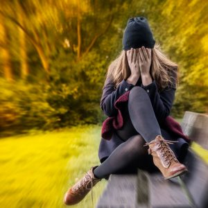 45884272 - depressed female in autumn season