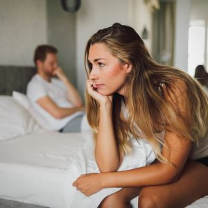 Couple having problems in relationship due to infidelity