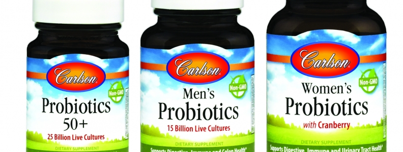 Carlson Laboratories Introduces Women's Probiotics, Men's Probiotics, and Probiotics 50+