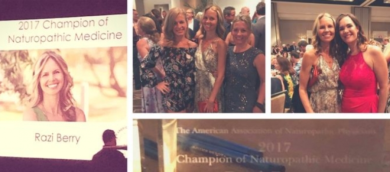 "AANP's ""Champion of Naturopathic Medicine"" Award Goes to NDNR Owner, Founder and Publisher, Razi Berry"